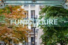 Знак текста Funiculaire Стоковые Изображения RF