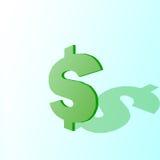 знак тени доллара Стоковое Фото