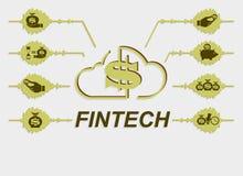 Знак, технология символа финансовая Стоковые Фото