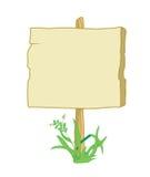 знак травы деревянный иллюстрация штока