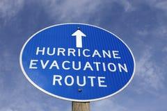 Знак трассы опорожнения урагана Стоковые Изображения