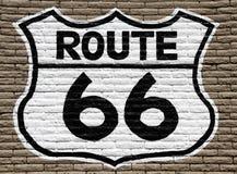 Знак трассы 66 Стоковые Изображения