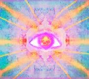 Знак третьего глаза мистический Стоковые Изображения RF