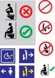 Знак туалета, путешественники туалета Стоковое Изображение RF