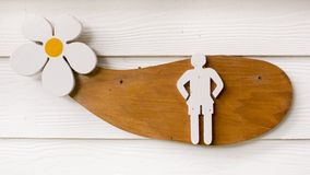 Знак туалета человека Стоковое Изображение