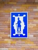 Знак туалета человека Стоковые Фотографии RF