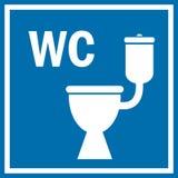 Знак туалета Стоковая Фотография