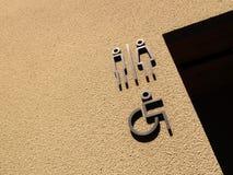 Знак уборного стоковая фотография