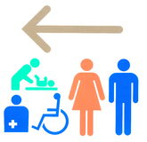 Знак уборного Стоковое Изображение RF