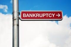 Знак улицы - банкротство Стоковые Фото