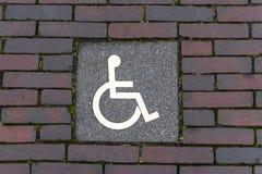 Знак улицы инвалидности Стоковые Изображения RF