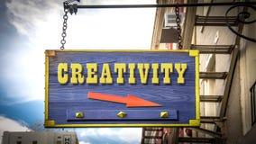 Знак улицы к творческим способностям иллюстрация вектора
