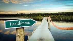 Знак улицы к Healthiness стоковые изображения rf