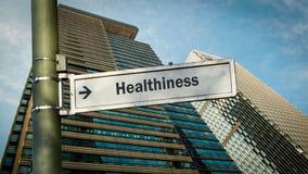 Знак улицы к Healthiness стоковые фотографии rf