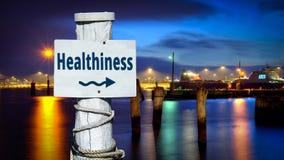 Знак улицы к Healthiness стоковые изображения