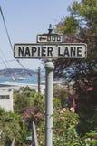 Знак улицы майны Napier стоковое фото rf