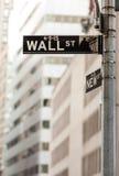 Знак Уолл-Стрита Стоковая Фотография RF