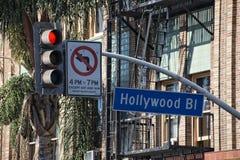 Знак улицы бульвара Голливуда ЛА стоковые фото