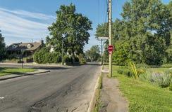 Знак улицы бульвара Gouin Стоковое Фото