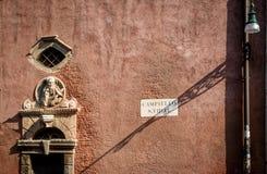 Знак улицы Венеция Италия Стоковое Фото