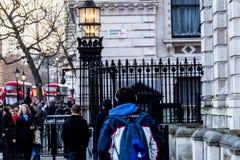Знак улицы Даунинг-стрит, Лондон Стоковые Фото