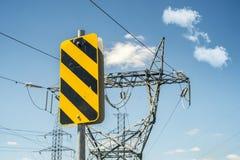 Знак улицы опасности Стоковое Фото