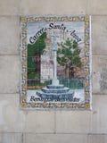 Знак улицы Carrer de Санты Анны Стоковое фото RF