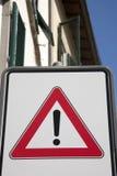 Знак уличного движения возгласа Стоковая Фотография RF