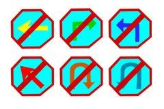Знак уличного движения значка Стоковое Изображение RF