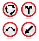 Знак уличного движения круга Иллюстрация штока