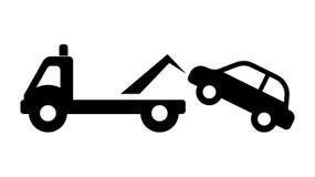 Знак уличного движения - никакая автостоянка, не буксирует отсутствующий знак зоны Стоковое фото RF