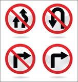 Знак уличного движения поворота Иллюстрация штока