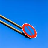 Знак уличного движения свисания стоковые фотографии rf