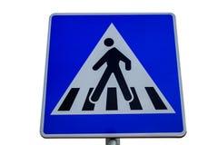 Знак уличного движения для пешеходного перехода Стоковая Фотография RF