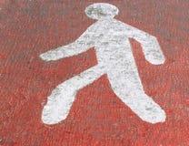Знак уличного движения для пешеходного перехода Стоковые Изображения