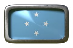 Знак флага Микронезия иллюстрация штока