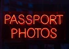 Знак фото пасспорта Стоковое Изображение RF