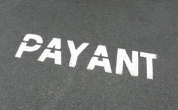 знак французской стоянкы автомобилей payant Стоковое Изображение RF