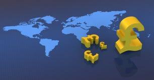 знак фунта валюты Стоковое Изображение RF