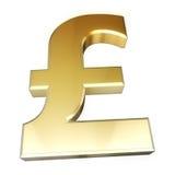 знак фунта золота Стоковая Фотография