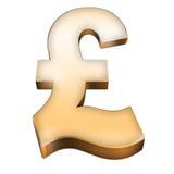 знак фунта золота Стоковое фото RF