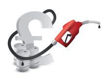 Знак фунта с соплом газового насоса иллюстрация вектора
