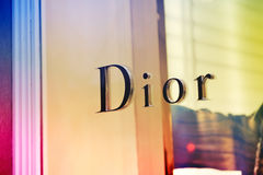 Знак флагманского магазина Dior Стоковое Изображение