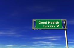 знак хороших здоровий скоростного шоссе Стоковые Фото