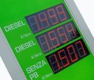 знак цены газолина евро Стоковая Фотография RF