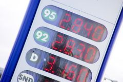 знак цены нефти Стоковое Фото