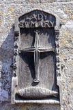 Знак церков дамы St Mary, Wareham Стоковое Фото