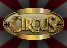 Знак цирка яркого блеска иллюстрация штока