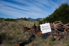 знак частной собственности Стоковое фото RF