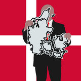 знак человека Дании Стоковое фото RF